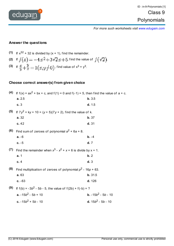 Maths Worksheets For Year 9 Yourhelpfulelf – Year 4 Maths Revision Worksheets